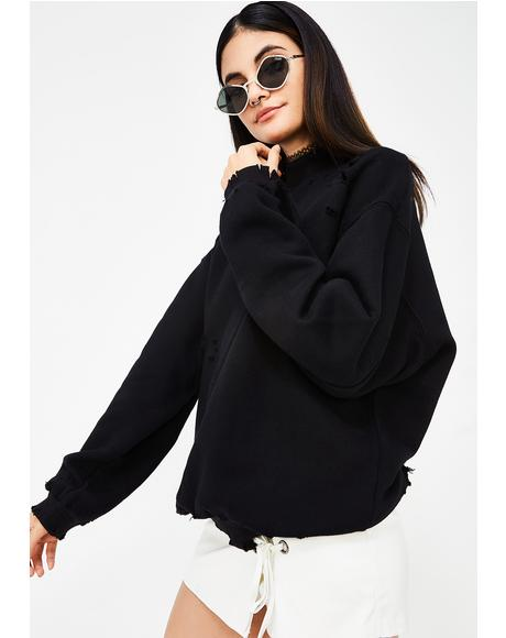 Onyx Fade Away Distressed Sweatshirt