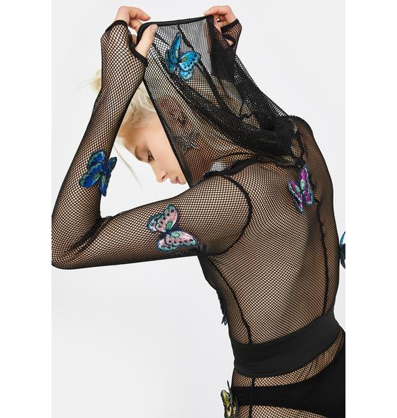 Club Exx Outta My Cage Fishnet Bodysuit