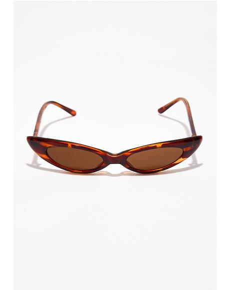 Supa Fly Micro Cat Eye Sunglasses
