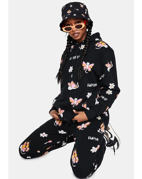 Black Butterfly Hoodie