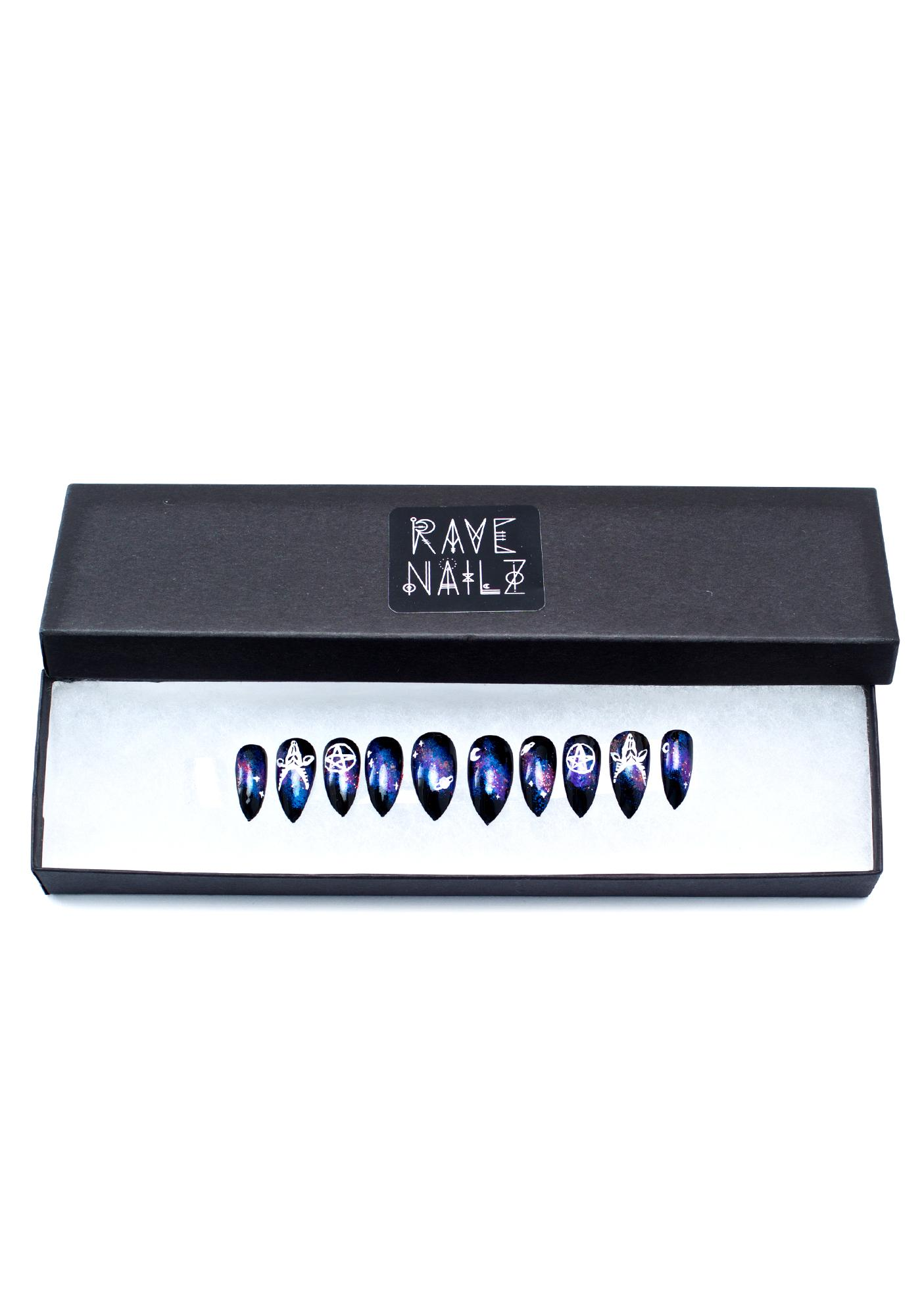 Rave Nailz Satanic Galaxy Nail Set