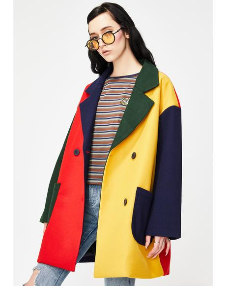 Grow Your Own Colorblock Coat