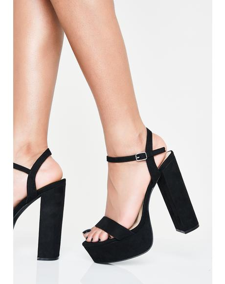 Out All Night Platform Heels