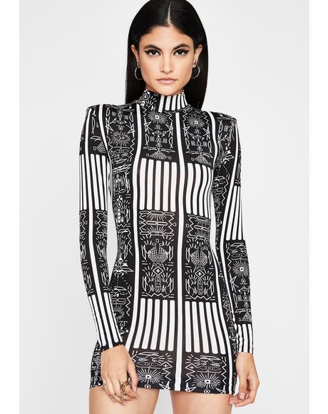 Royal Relic Bodycon Dress