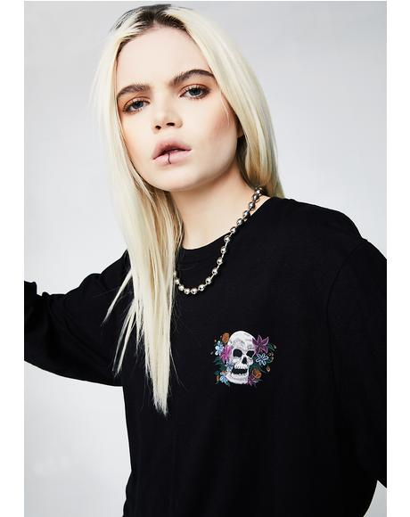 Hippie Skull Long Sleeve Tee