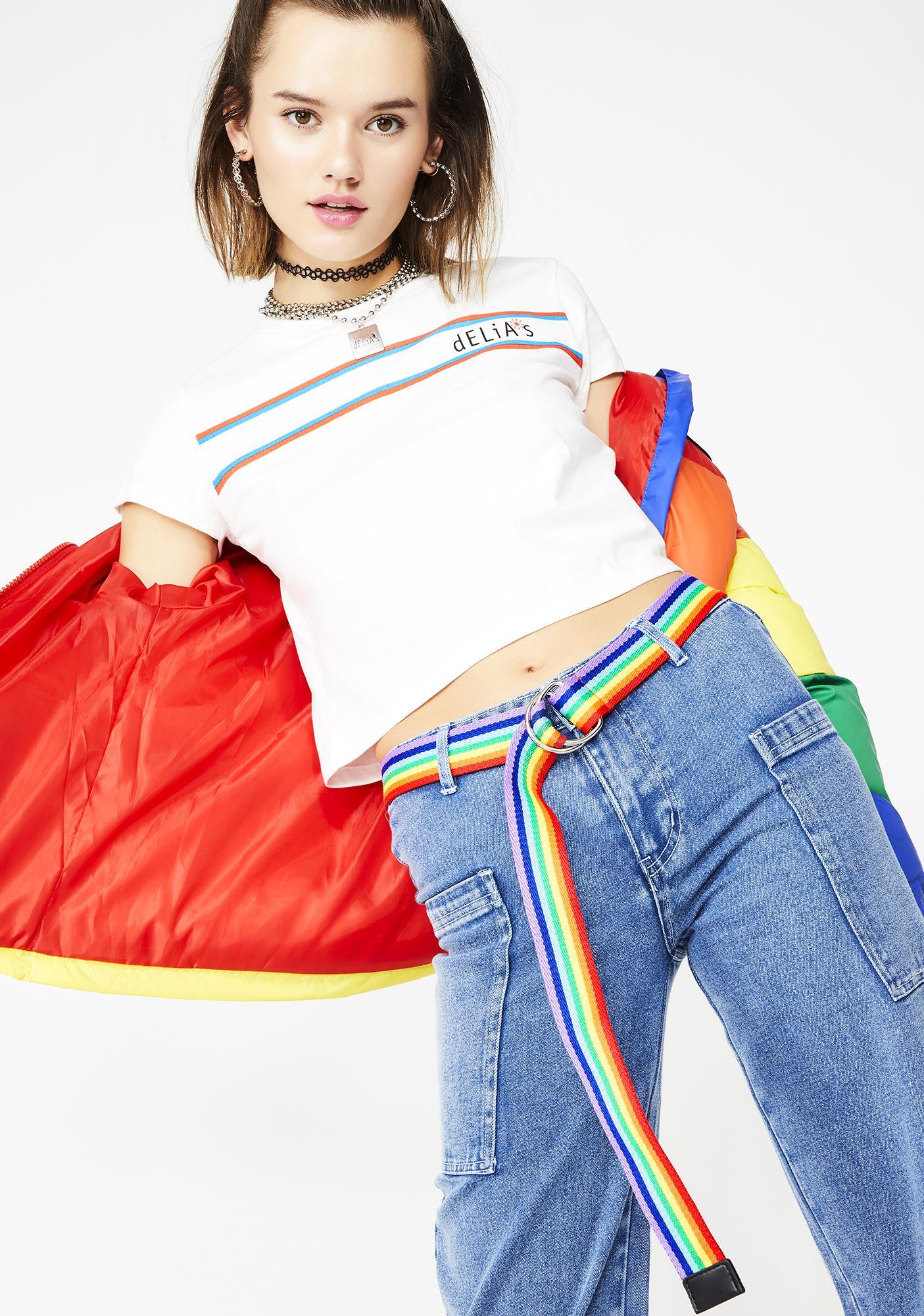 Dose Of Happy Rainbow Belt