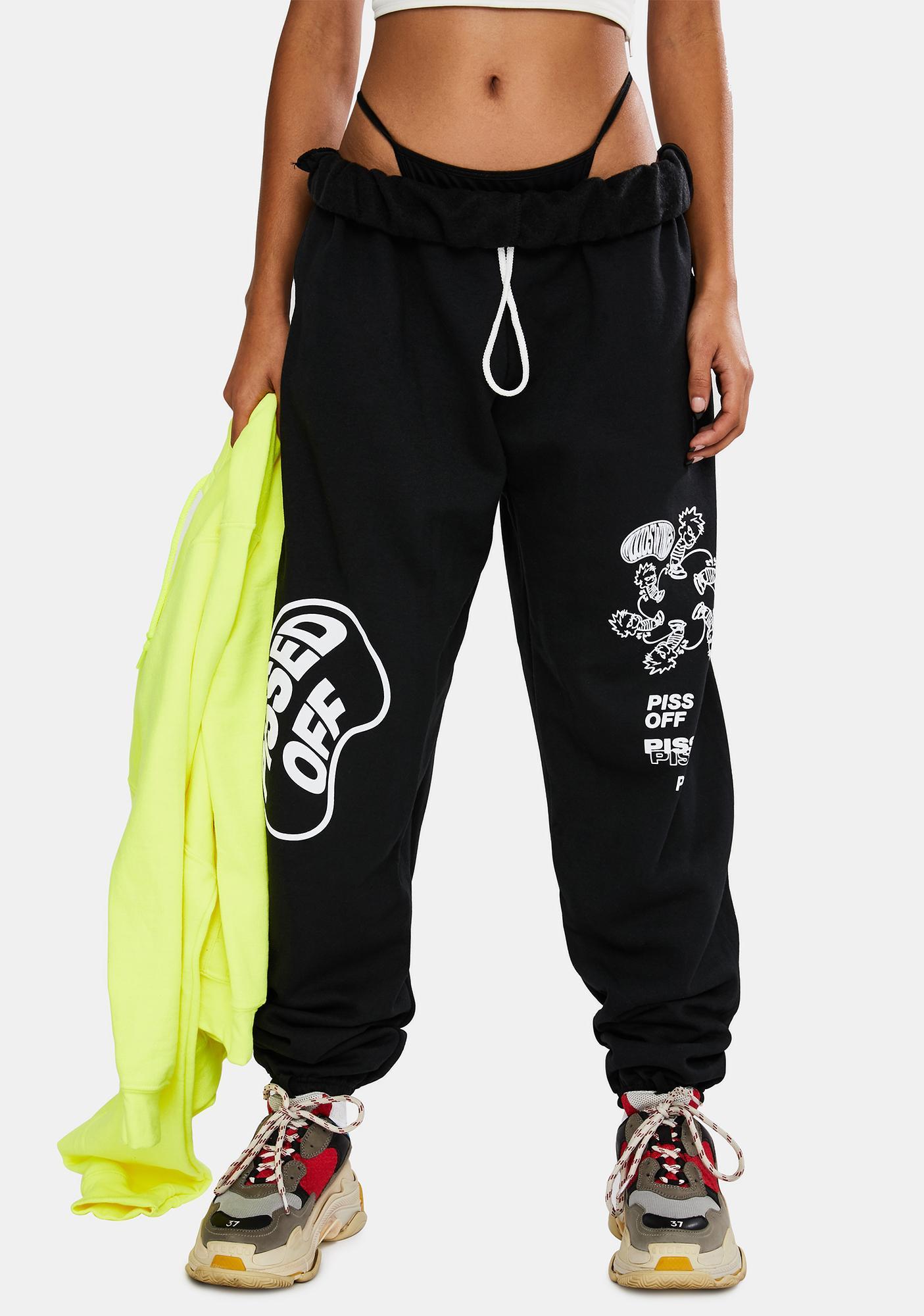 MOODSWINGS Pissed Graphic Sweatpants