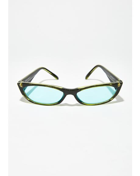 Can't Buy Love Rectangle Sunglasses