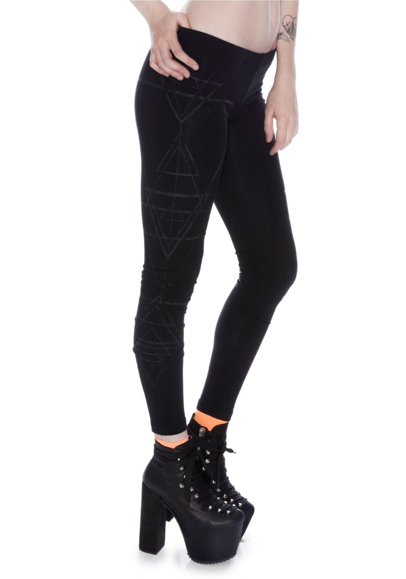 Widow Witch House Screenprint Leggings