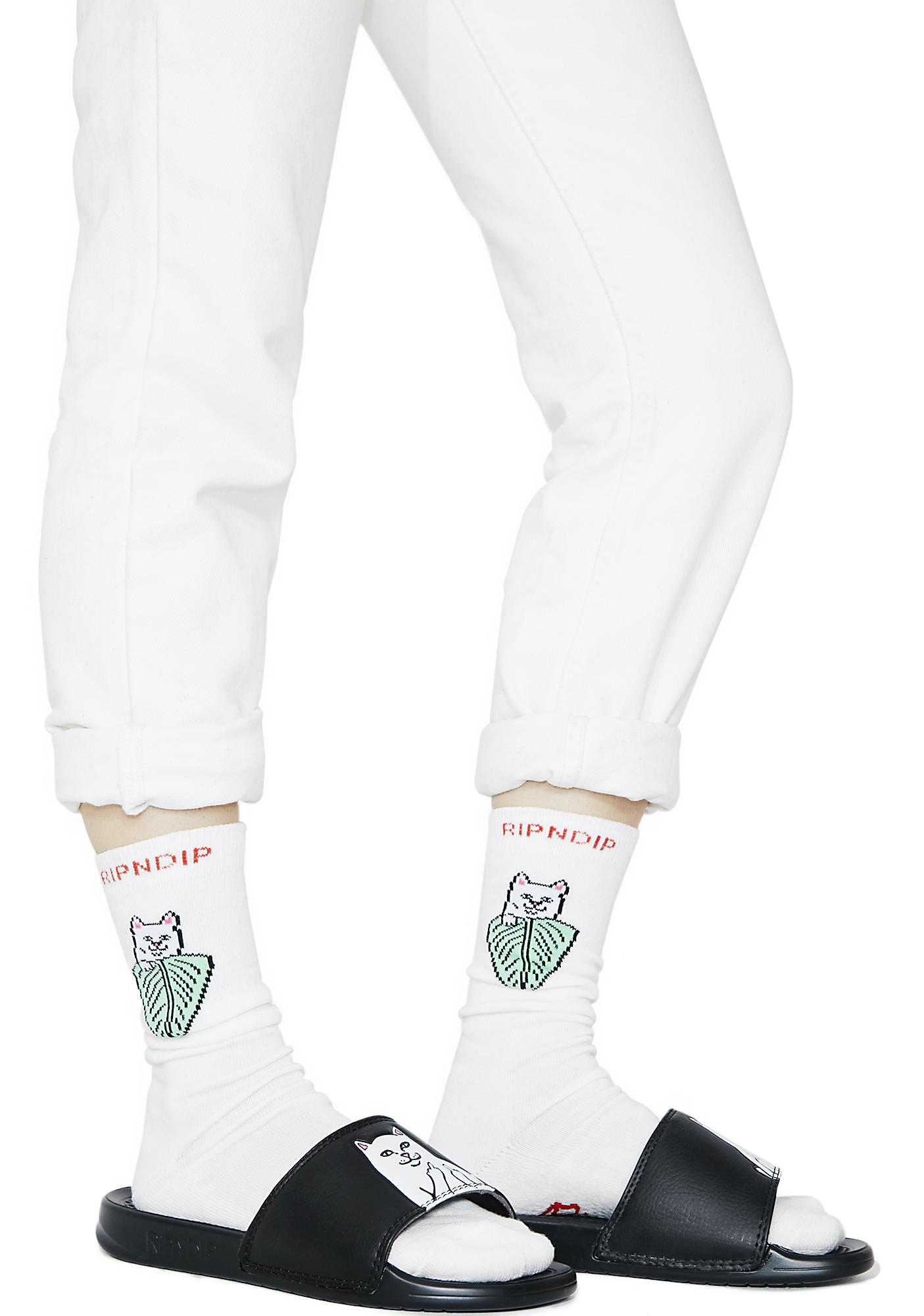 RIPNDIP Nermal Leaf Socks