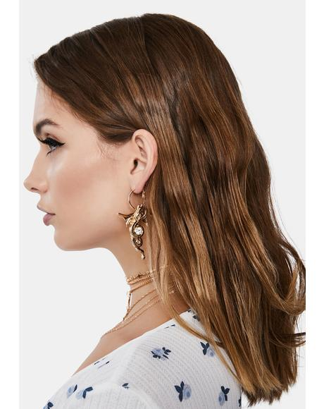 Legend Has It Dragon Earrings