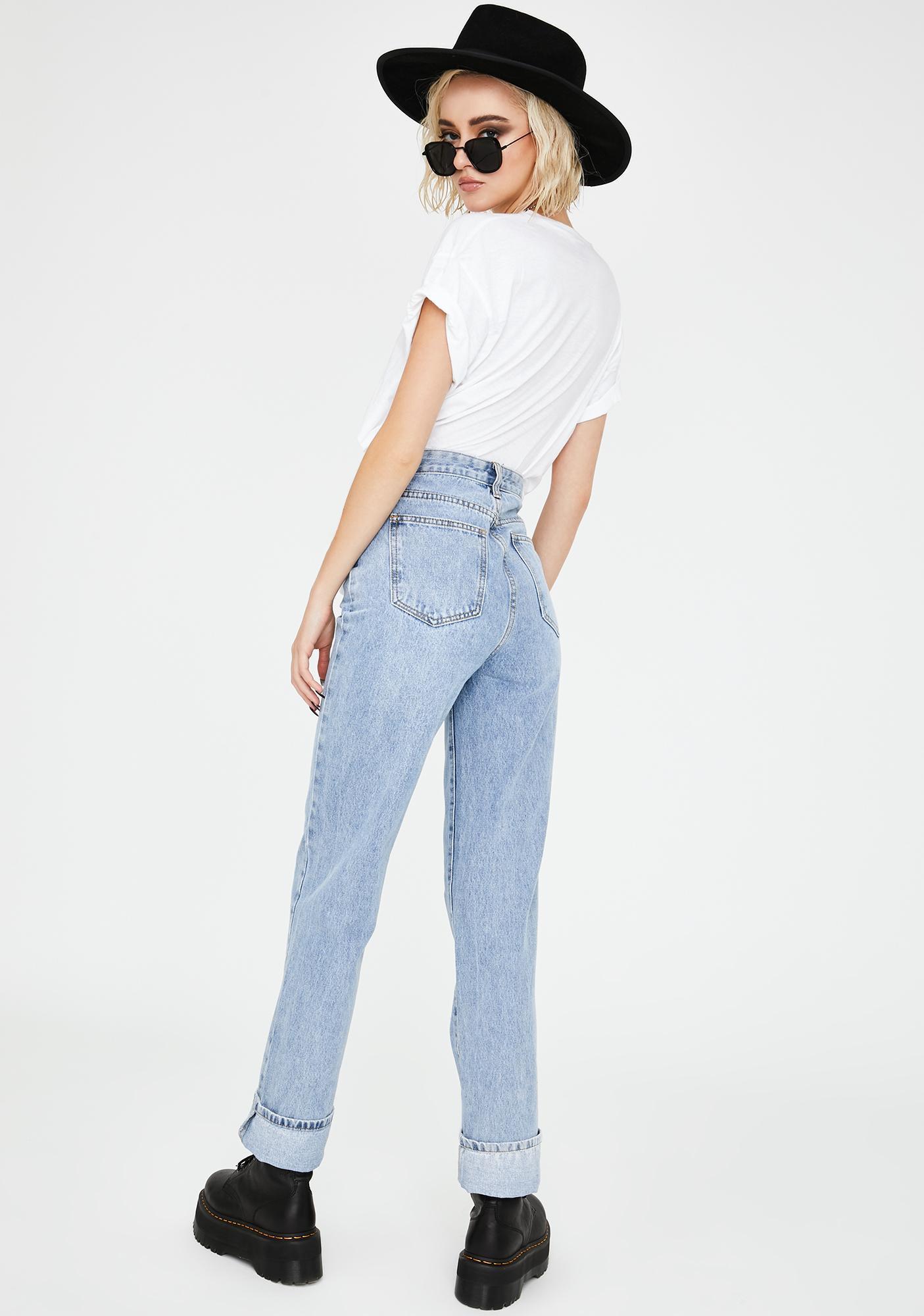 Momokrom Extra Long Straight Leg Denim Jeans
