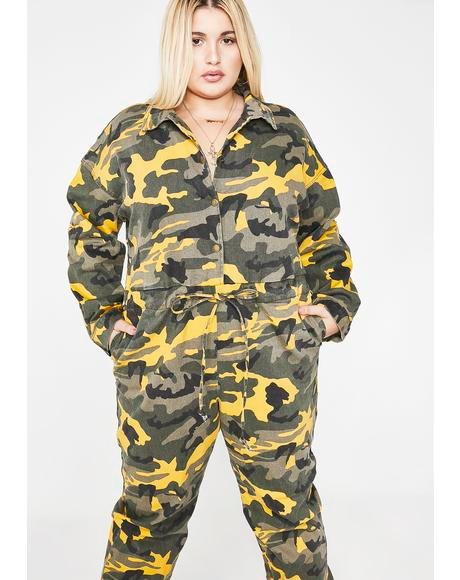 Force Of A Nature Camo Jumpsuit