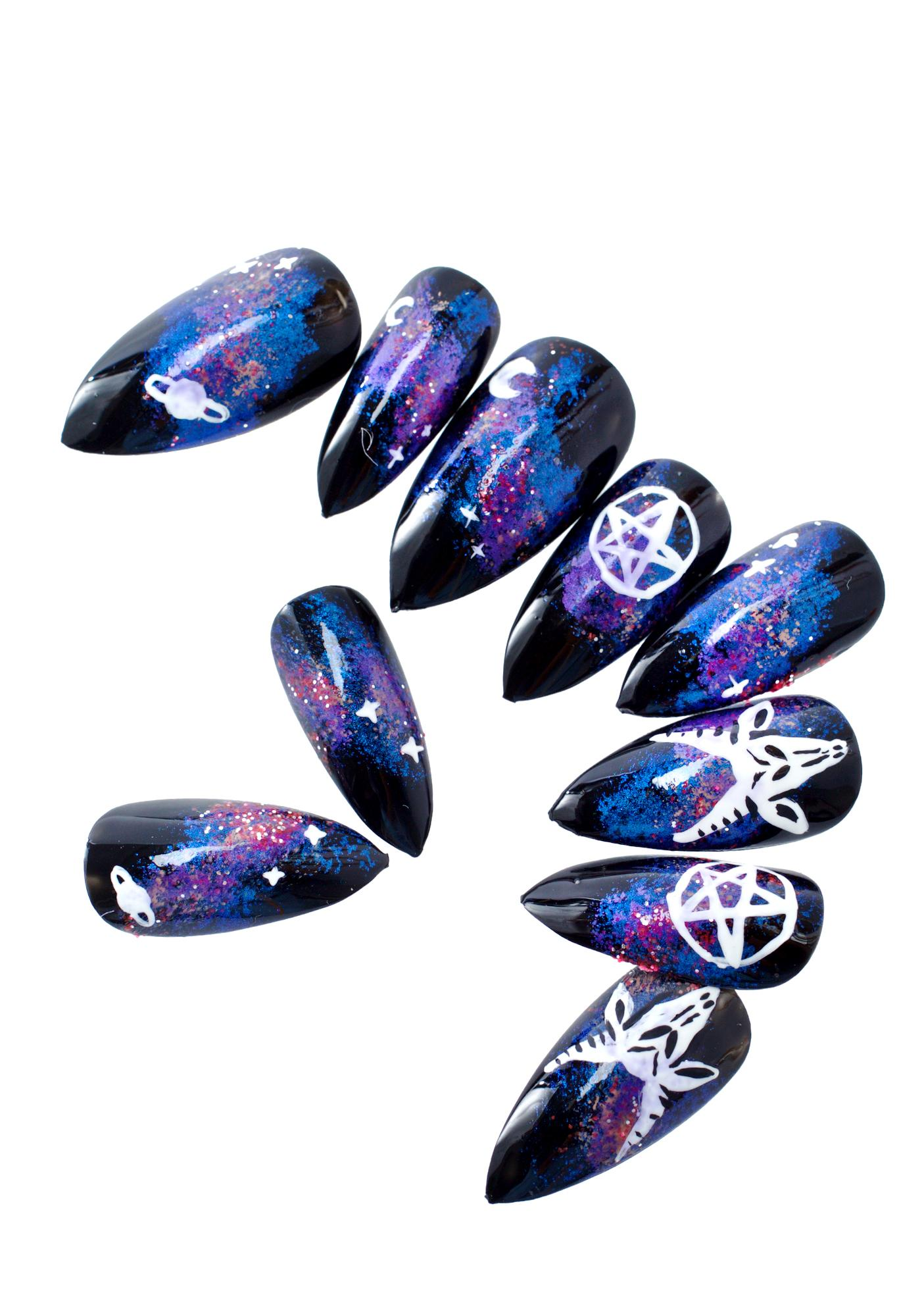 Rave Nailz Satanic Galaxy Nail Set