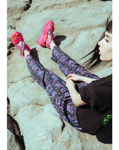 Gecko Multi Stripe Beach Pants