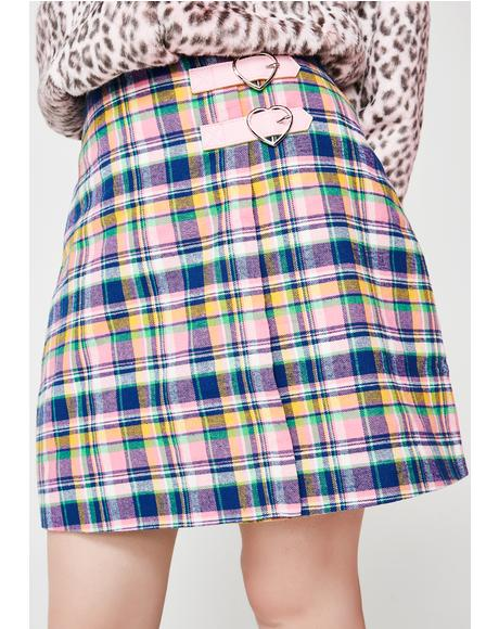 Check Kilty Skirt