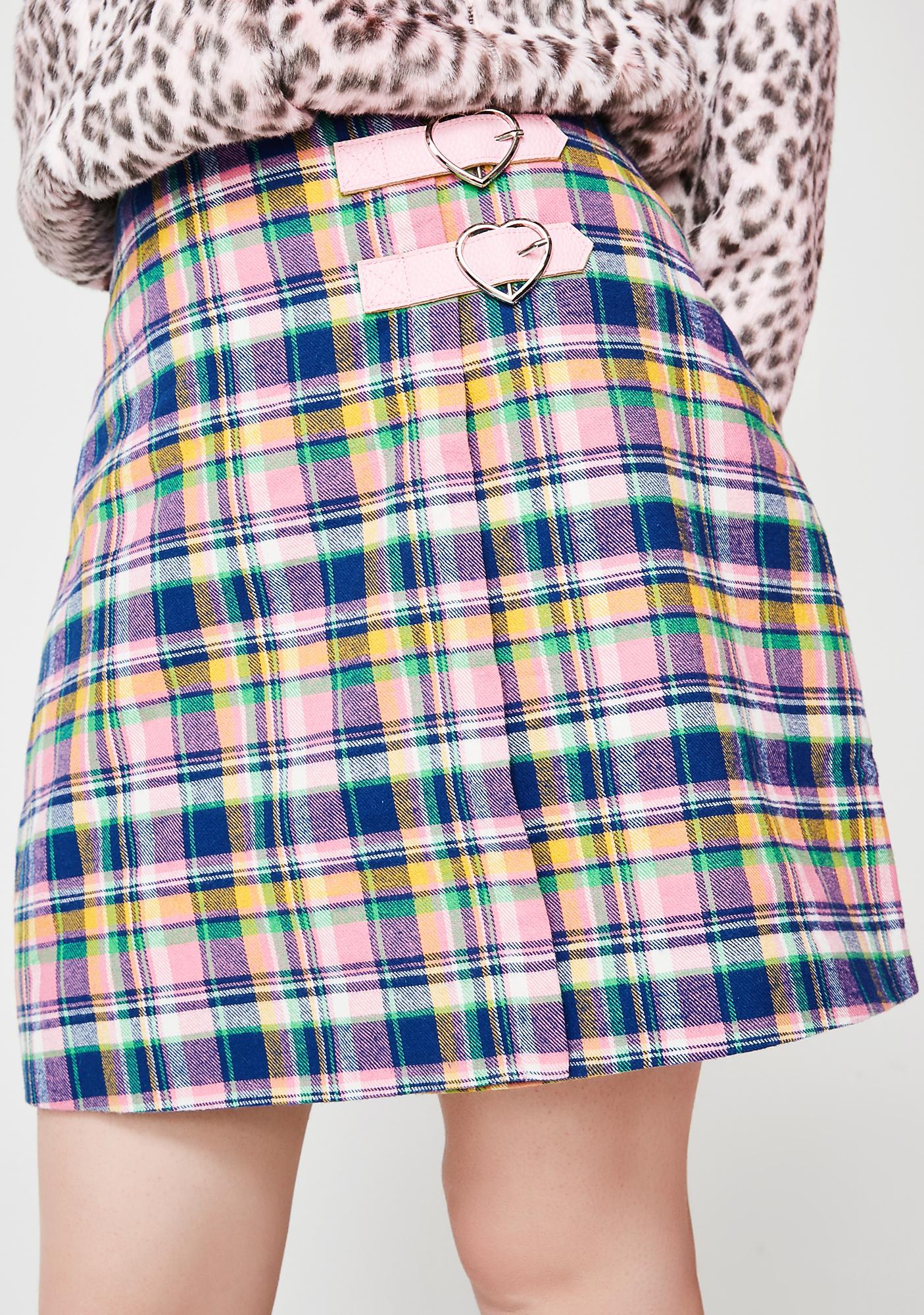 Lazy Oaf Check Kilty Skirt