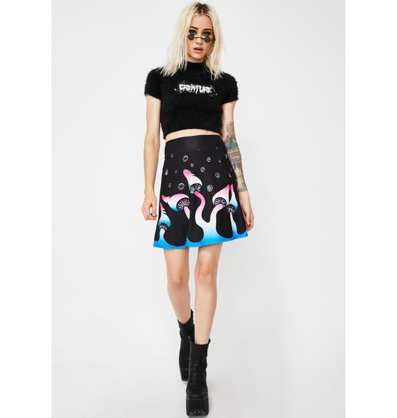 Too Fast Shroomin' & Bloomin' Skater Skirt
