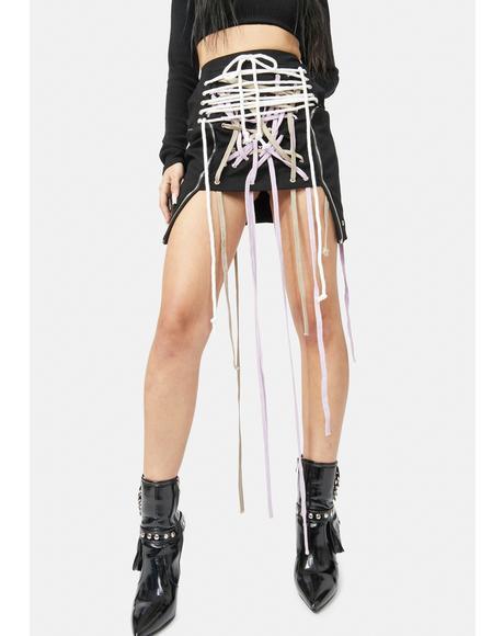 Sneaky Wink Strap Mini Skirt