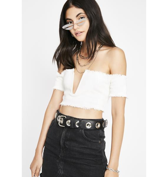 Not Entertained Off Shoulder Top