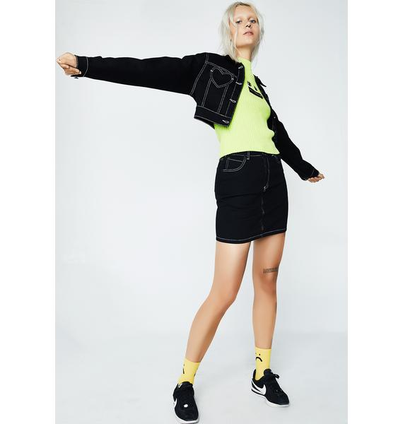 Lazy Oaf Contrast Stitch Fitted Jacket