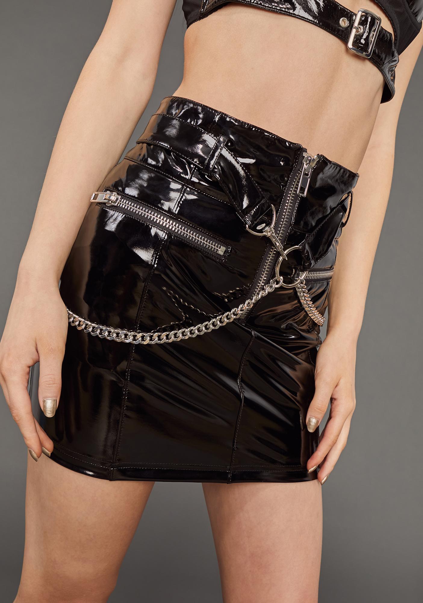 Poster Grl Hard To Impress Patent Skirt