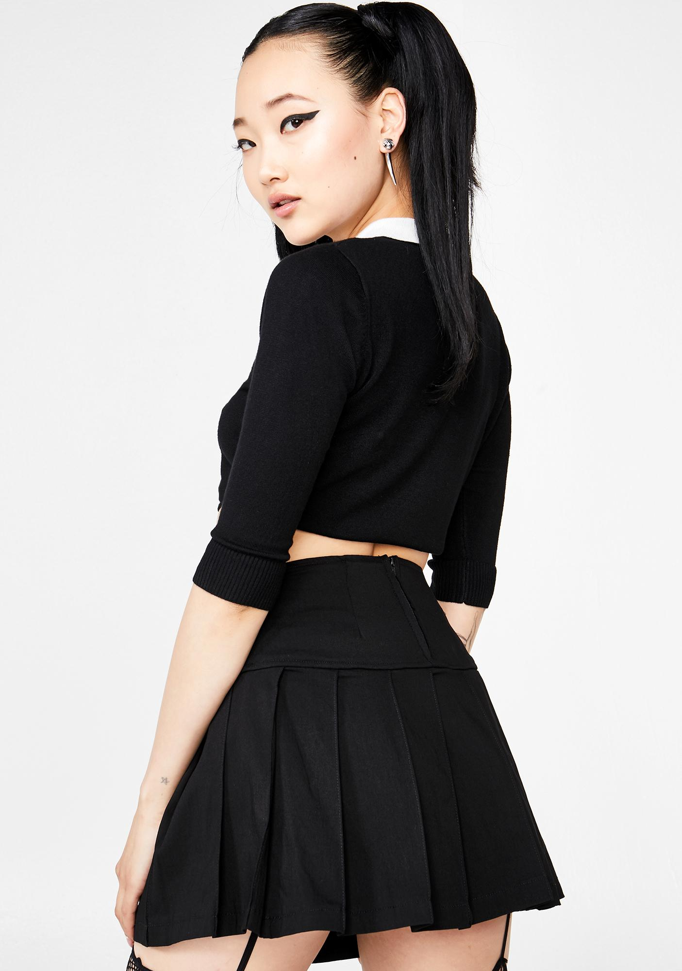 Show Some Restraint Buckle Skirt