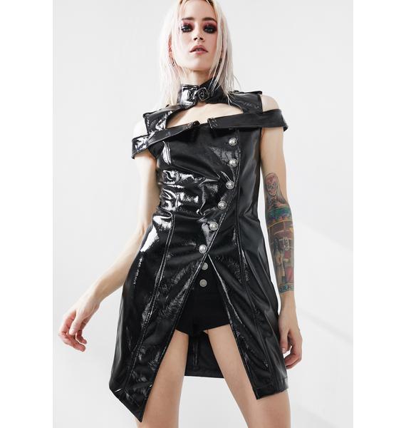 Punk Rave Punk Flaming Patent Leather Dress
