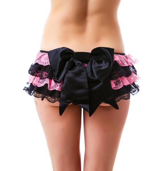 Belladonna Lace Layered Ruffle Mini Skirt