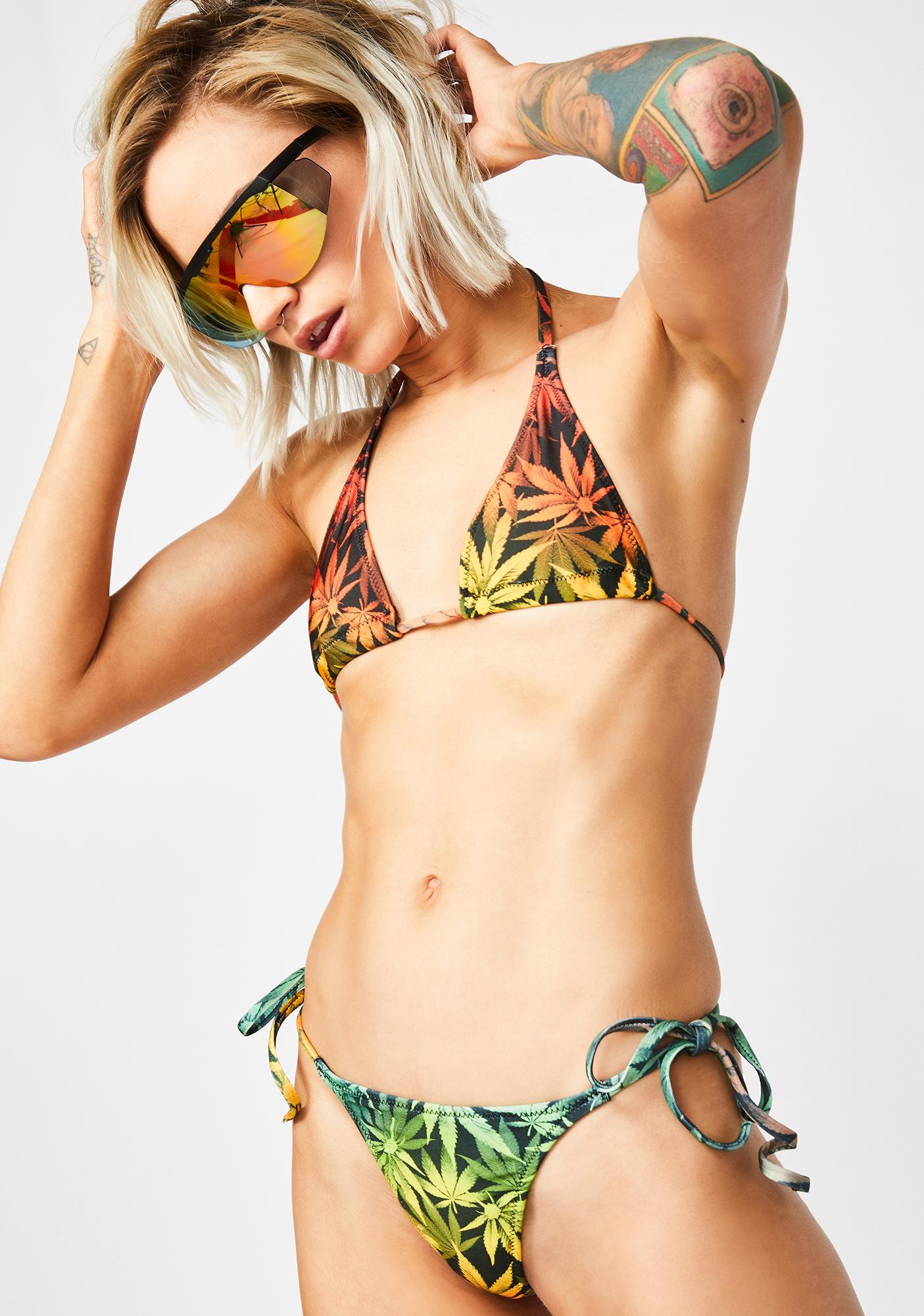 Bedroom Behavior Lingerie High Life String Bikini Top