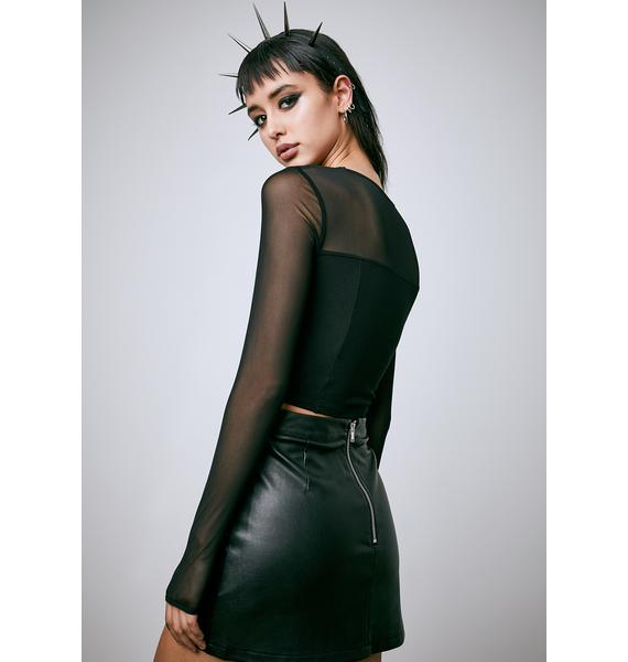 Current Mood Hell's Blackout Pleated Skirt