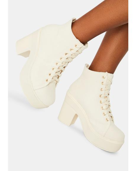 Off White Campus Queen Booties