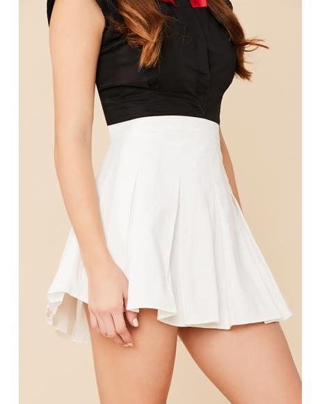 Pure Dean's List Pleated Mini Skirt