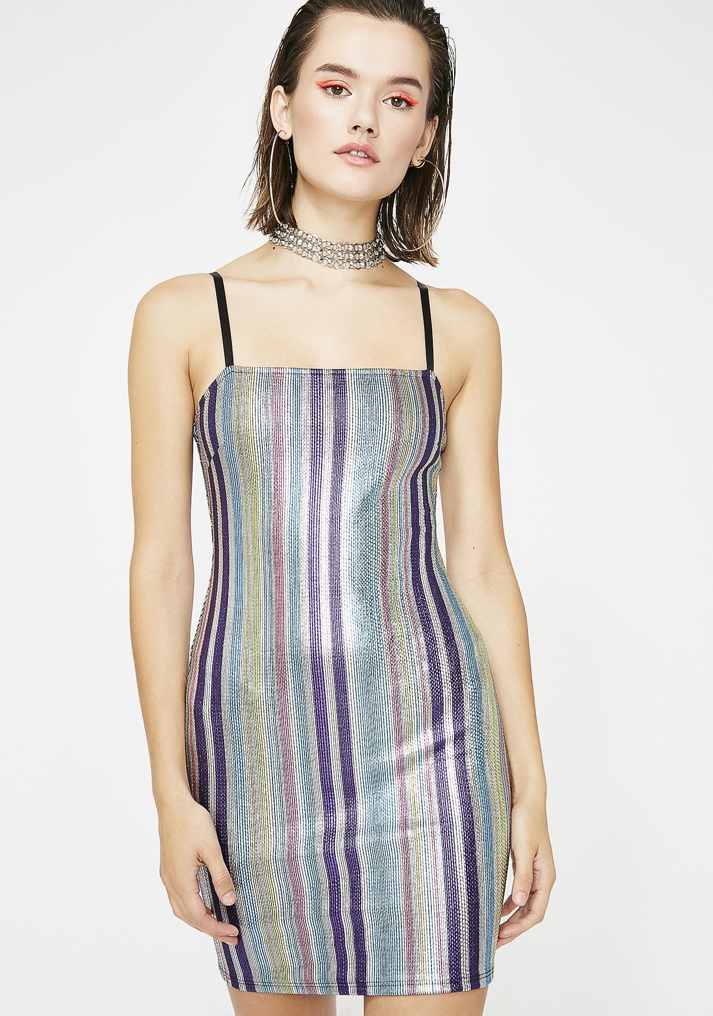 Alwayz Shinin' Metallic Dress