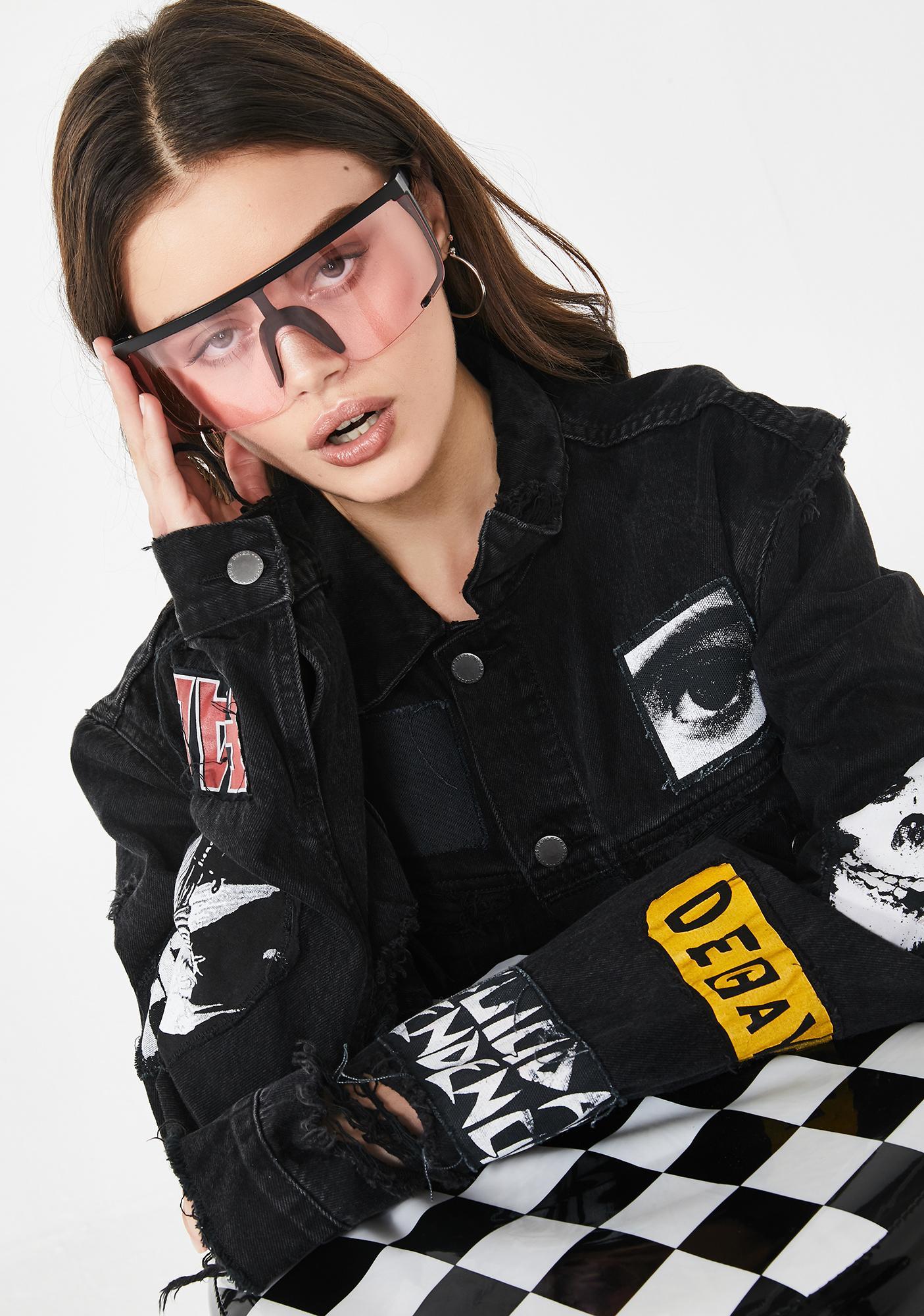 Miss Boat Rockin' Shield Sunglasses