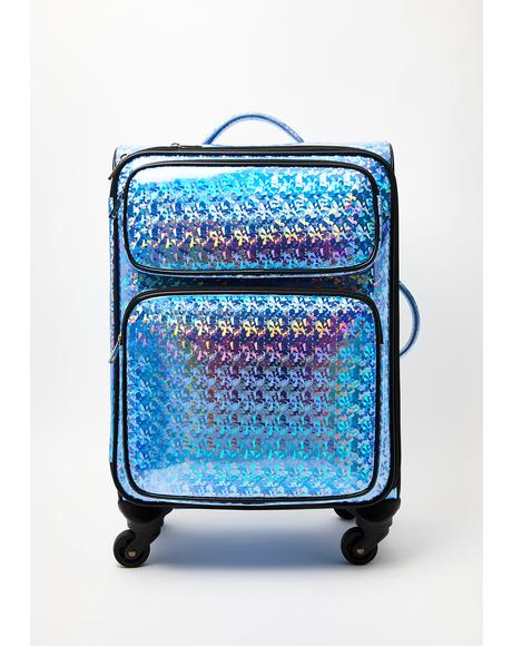 Crystal Realm Holographic Suitcase