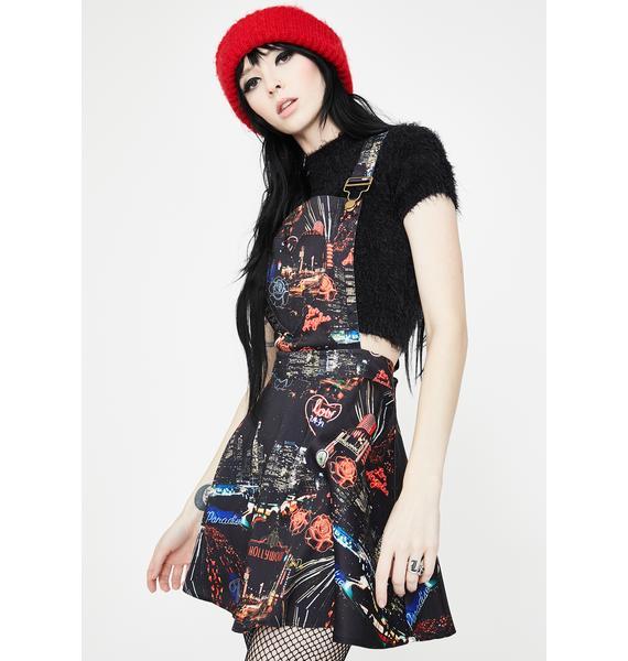 Jawbreaker City Lights Of Paradise Overall Dress