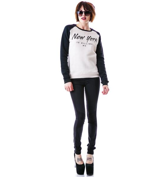 Zoe Karssen New York Is Killing Me Loose Fit Sweater