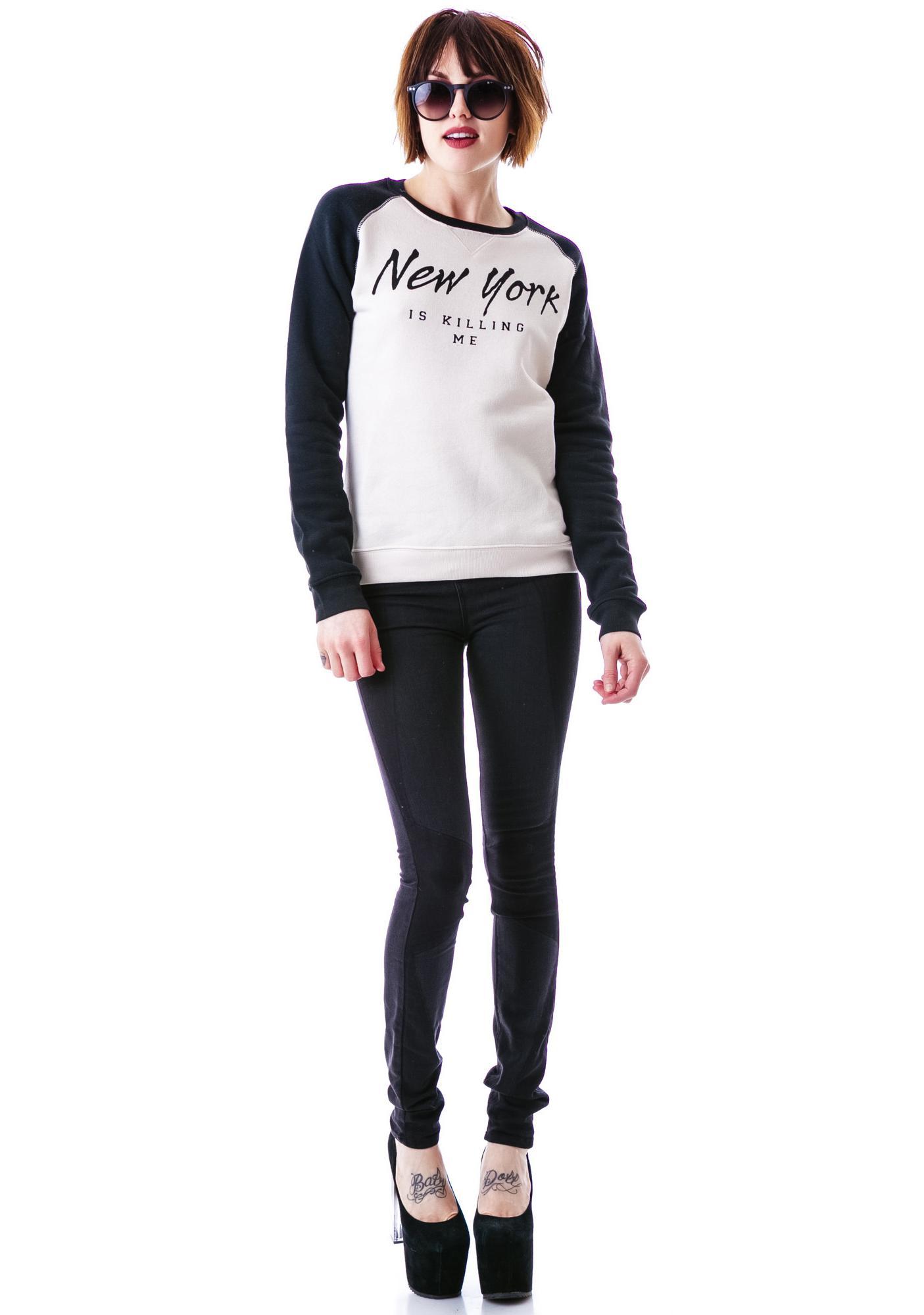 Zoe Karssen New York Is Killing Me Loose Fit Sweater