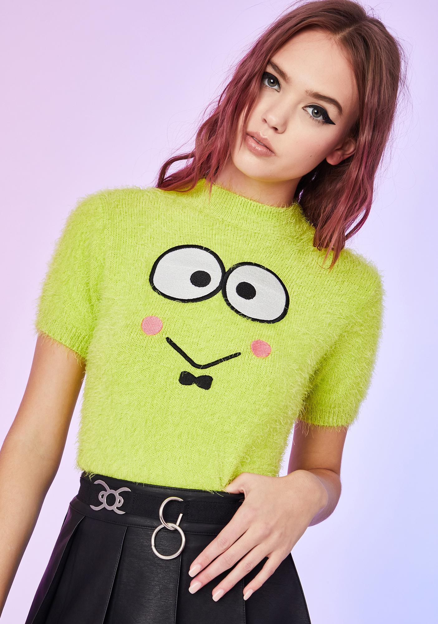 Dolls Kill x Hello Kitty Lilly Pad Loner Keroppi Sweater