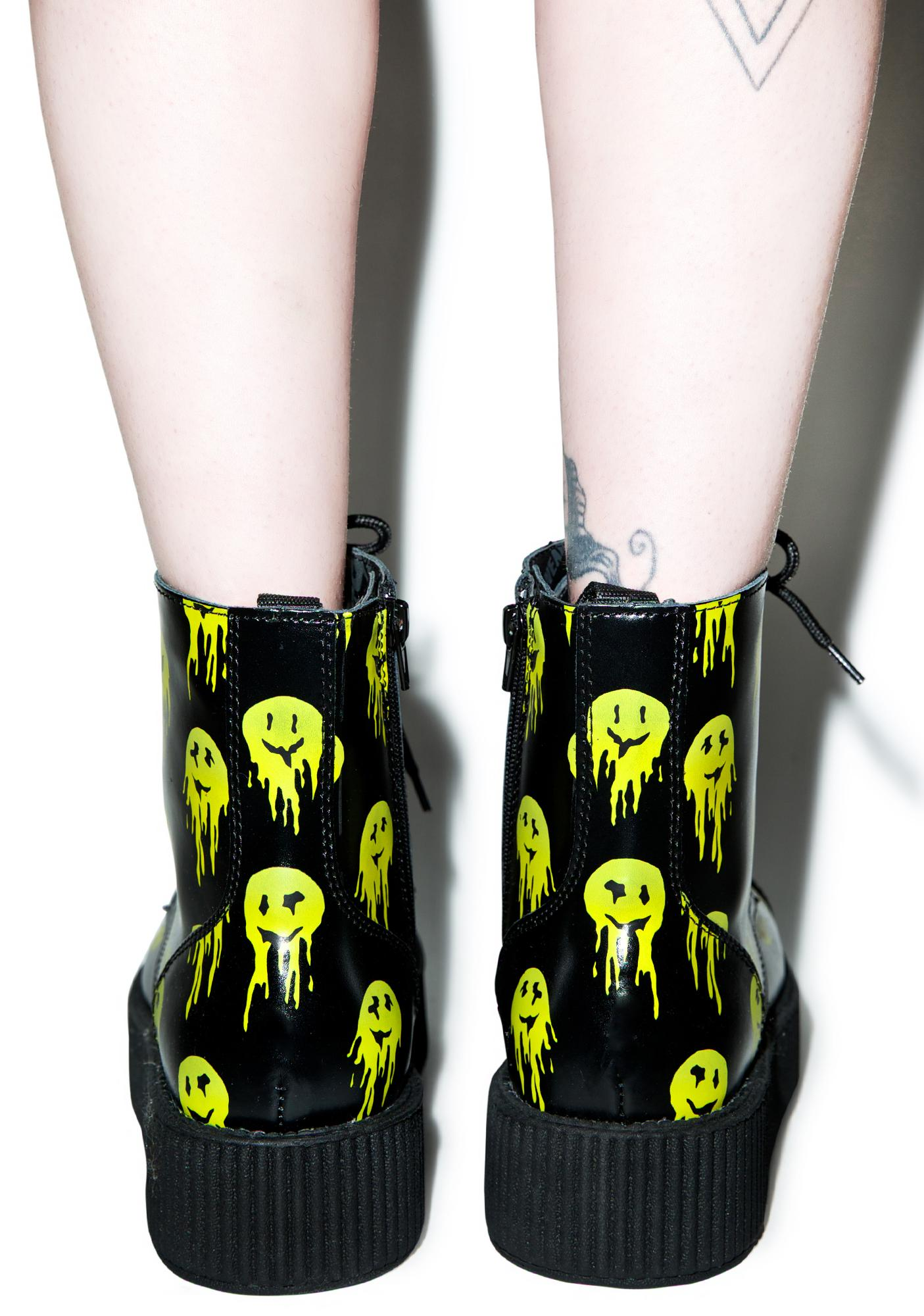T.U.K. Smiley Viva 7 Eye Leather Boots