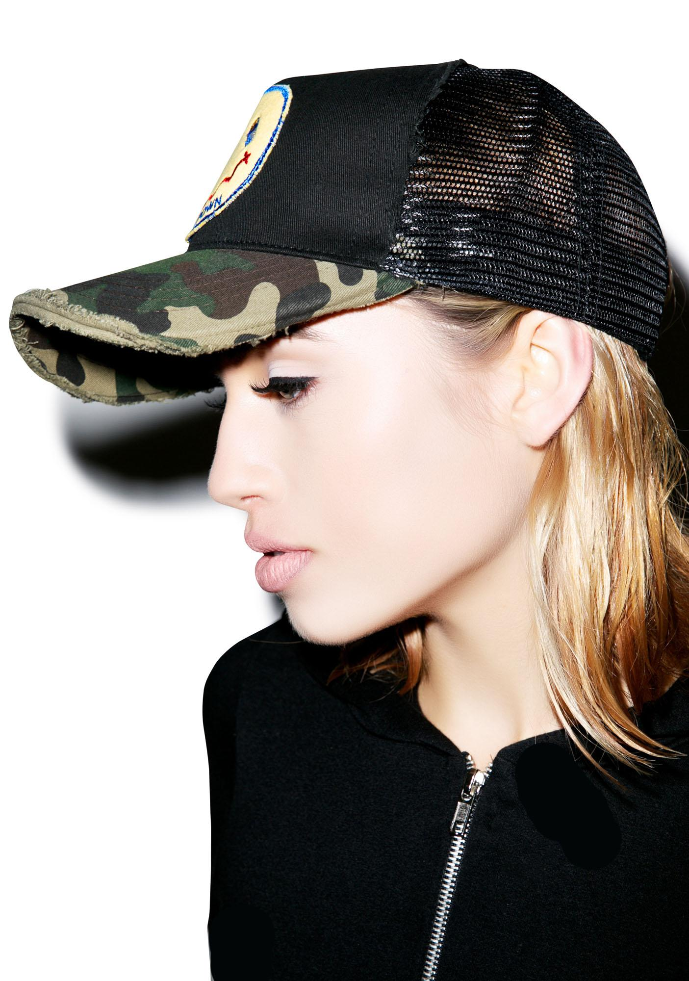 Lauren Moshi Jilly Calm Down Patch Trucker Hat