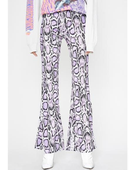 Grape Vile Riot Snake Skin Flares