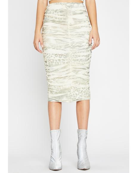 Wild Ferocity Ruched Skirt