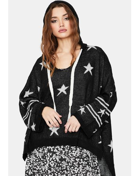Lost In The Stars Knit Hoodie