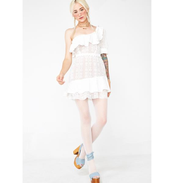 For Love & Lemons Lovebird Lace Mini Dress