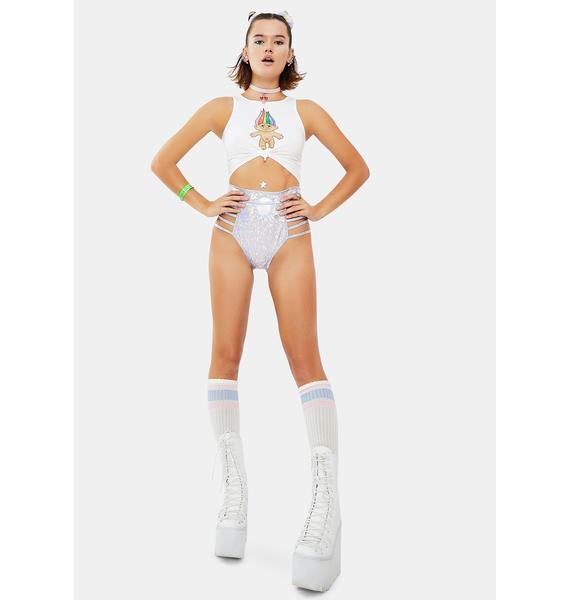Roma Lilac Techno Wonderland Cut Out Shorts