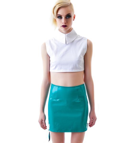Lip Service Slick PVC Zipper Skirt