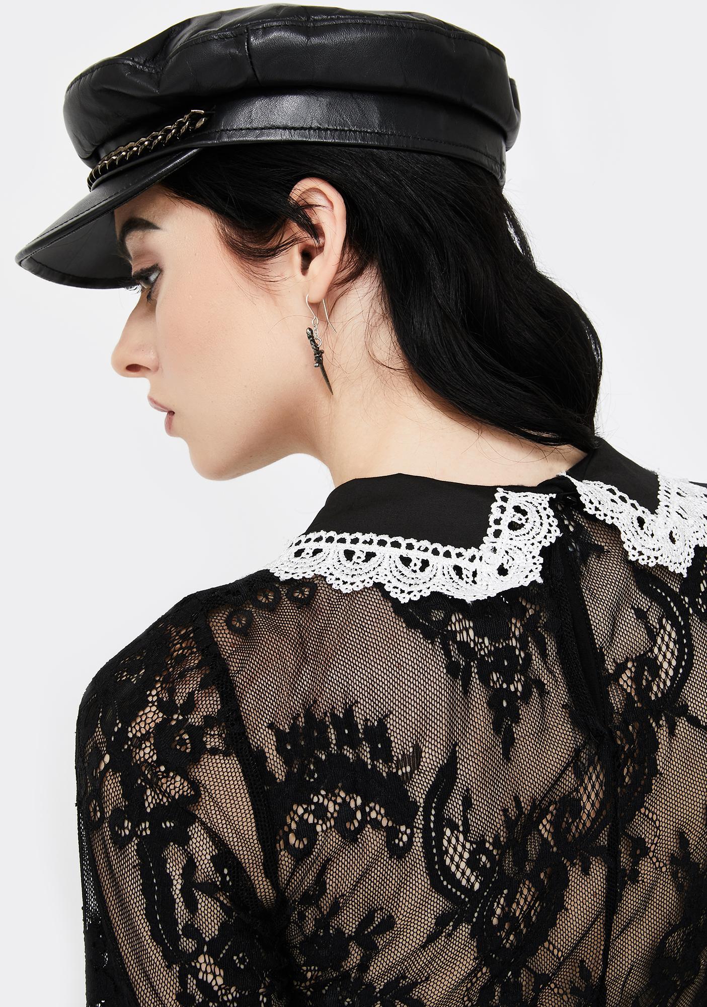Killstar Esme Lace Long Sleeve Top
