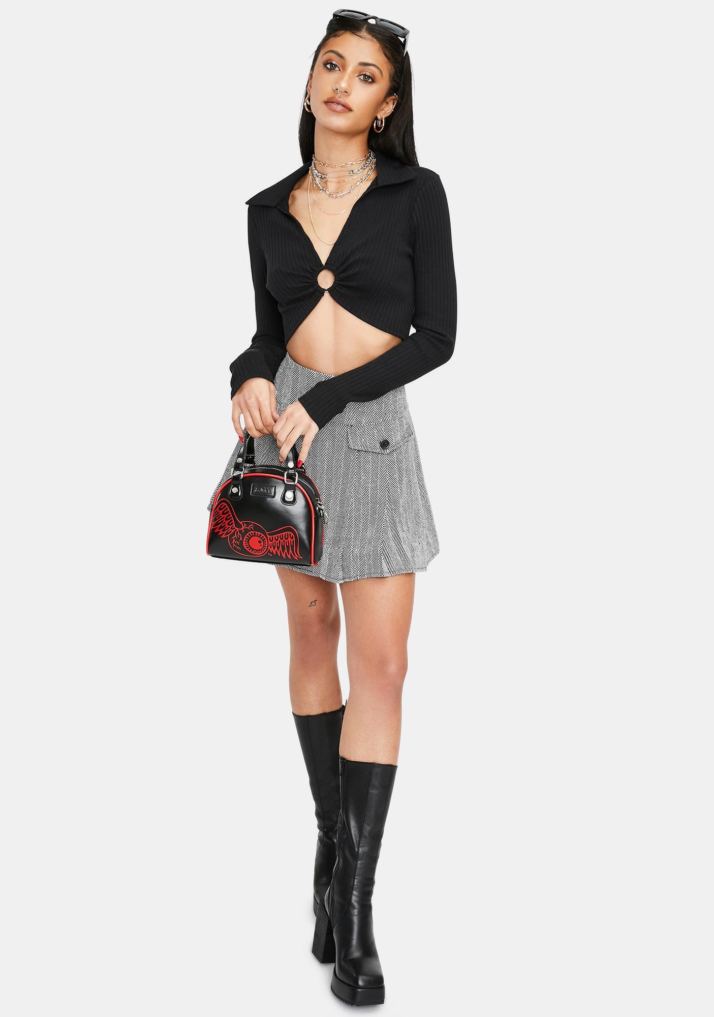 Current Affairs Pocket Pleated Skirt